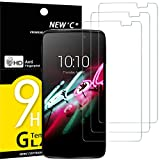 NEW'C 3 Stück, Schutzfolie Panzerglas für Alcatel One Touch Idol 3 (5.5), Frei von Kratzern, 9H Festigkeit, HD Bildschirmschutzfolie, 0.33mm Ultra-klar, Ultrawiderstandsfähig