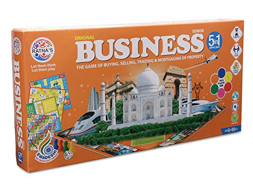 RATNA'S Business (B) Coins 5 in 1 Board Game for kids,multicolor