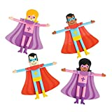 Fun Express Religious Superhero Bendable Toys (Set of 24) Sunday School, VBS, Gifts and Toys