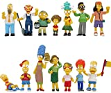cheaaff 14 unids/Set Simpsons Cartoon The Arsene Family Cake Decorating Model Toys para niños