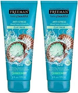 Freeman Feeling Beautiful Facial Anti-Stress Mask, Dead Sea Minerals 6 floz (Pack of 2)