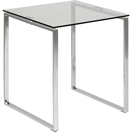 Marque Amazon - Movian Somes - Table de chevet, 50x50x55cm (longueurxlargeurxhauteur), Argenté