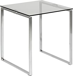 Cooper & Co. Homewares Living Manhattan Glass Top Side Table, Clear