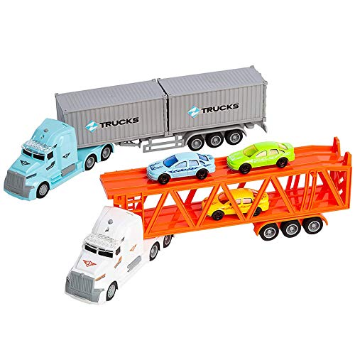 JOYIN Die-cast Truck Toy Set Includes...