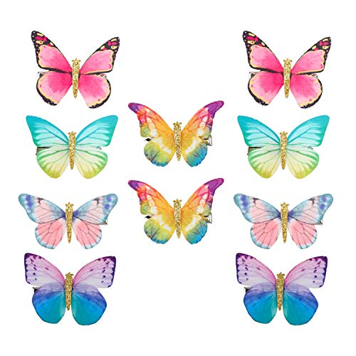 Hifot Schmetterling Haarspangen Mädchen Baby 10 Stk, Kinder Haarclips Haarnadeln, Haarschleifen Haar Accessoire Haarreife