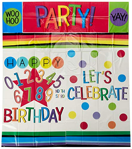 Amscan 671836 Rainbow Birthday Add-Any-Age Wall Decorating Kit, One Size, Multicolor