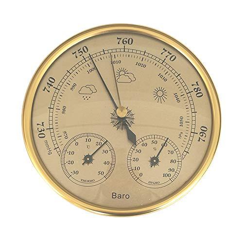 ZYD Termometro igrometro barometri 3 in 1 con Montaggio a Parete ad Alta precisione Manometro Aria Weather Station Hanging Instrument