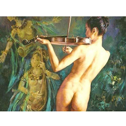 wydlb Impression Painting Large Art Panel Leinwand, Art Buyers Klassischer Hintergrund Schöne nackte Frauen gemalt, Gemälde ohne Rahmen 70x100cm