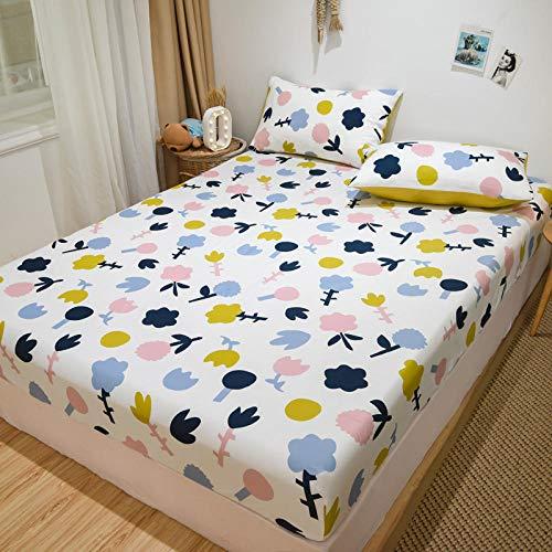 FFLDM Spannbettlaken Super Soft,Bedrucktes Bettlaken aus 100{661f3ae6d18590dae068a8e96ad29b260f7946627a701b11ec2a135e9a0a0da3} Baumwolle, Super King-Bettlaken für Kinder-Cartoons, Rutschfester, Fester Matratzenschoner-V_120x200 + 28 cm