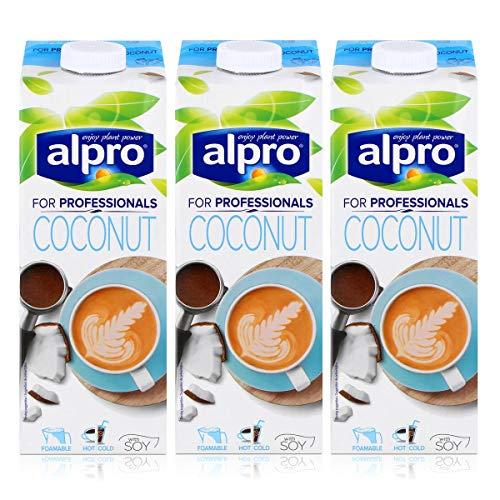 Alpro for professionals Coconut 1L - Kokosnussdrink mit Soja angereichert mit Calcium (3er Pack)