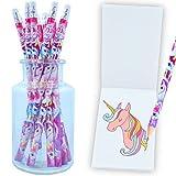 German Trendseller® 6 x lápices con goma de unicornio┃por la estuche┃ fiestas...
