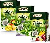 8273 BIG-ACTIVE Té verde en bolsitas de té con frutas de frambuesa, membrillo, tuna, mango, bergamota HERBAPOL, 3 x 20 sobres x 1,7 g, refresca la mente, favorece la digestión y la pérdida de peso
