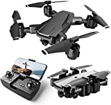 Drone with Camera Live Video,WiFi FPV Drone for Adults with HD 120° Wide Angle Camera 1200 Mah Long Flight time Auto Hover Fold able RC Drone Quad-copter