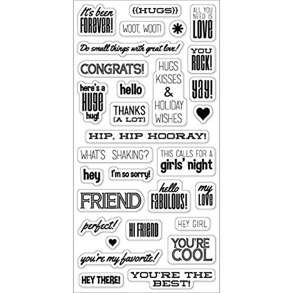 Fiskars 4x8 Inch Clear Stamps, Hello Fabulous