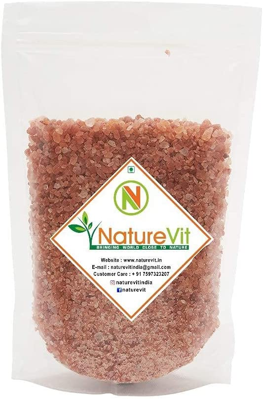 Saty NatureVit Cheap SALE Ranking TOP2 Start Himalayan Pink Rock Salt 1 Kg Granules