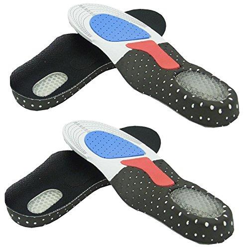 Sienoc Schuheinlagen Fußbett Gel Einlegesohle orthopädische Schuh Einlagen Gr. 35-46 (2 Paar 35-39)