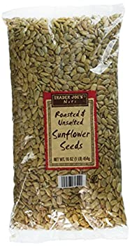 2 Pack Trader Joe s Roasted & Unsalted Sunflower Seeds 16 oz NET WT