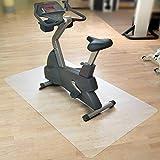 etm Tapis de Sol Appareil de Fitness | Tapis de Protection pour vélo elliptique, Home Trainer & rameur | Antiderapant & Anti-Bruit | Semi-Transparent | 200x120cm
