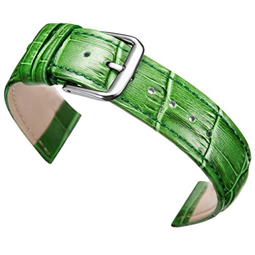20 mm orologio in pelle verde sostituzione banda cinturino in alligatore...