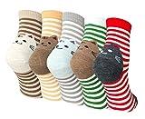 LOFIR Calcetines Divertidos de Algodón para Mujer Calcetines con Dibujos de Animal Perro Gato, Calcetines Vistosos, Calcetines Navidad para Mujer, talla 35-41