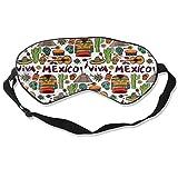 Viva México con Native Elements - Antifaz para dormir para hombre y mujer, diseño moderno y bonito, transpirable, bloques de luz, antifaz para dormir en todas partes, correa ajustable