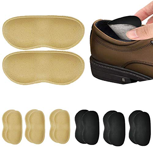 6 Pairs Heel Grips for Men and Women, Self-Adhesive Heel Cushion Inserts for Loose Shoes - Heel Pain Relief Bunion Callus Blisters (Set1)