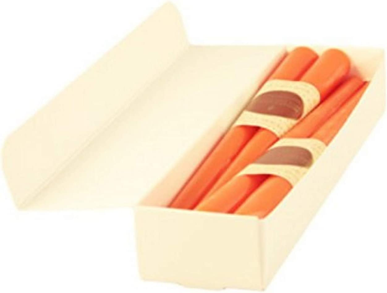 Honey Candles Pure Ranking TOP12 Beeswax 12'' Taper - E 2 of 8 Max 59% OFF Set Tangerine-