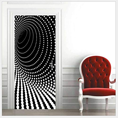3D Etiqueta Puerta Autoadhesivo Impermeable Matriz De Puntos Blancos Mural Foto Wallpaper Mural De Vinilo Pvc Sala De Estar Creativo Diy Decoración Pegatinas