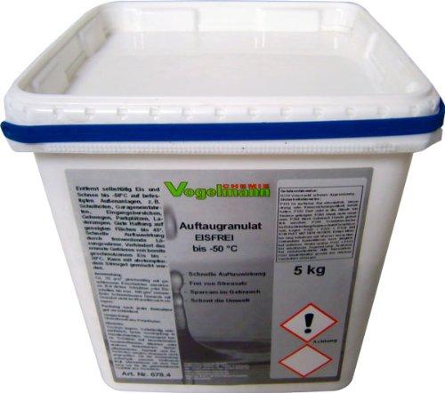 2 x 5 kg Auftaugranulat Eisfrei, bis -50 °C, 8 mal schneller als normales Streusalz