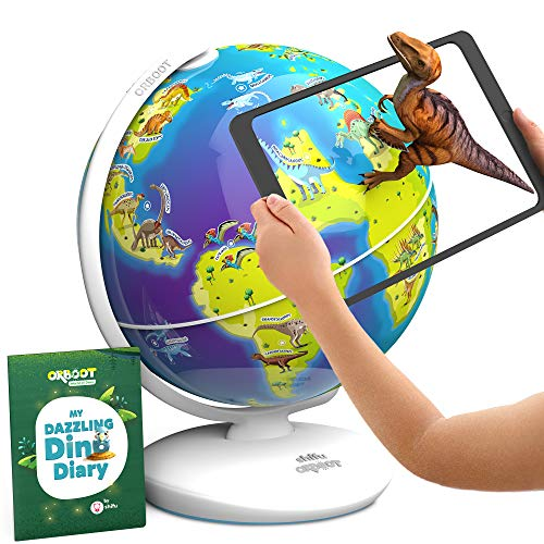 Orboot Dinos AR Globe by PlayShifu (App Based) - World of Dinosaur Toys, Educational Toy for Kids. Gift for Boys & Girls 4 Years & up