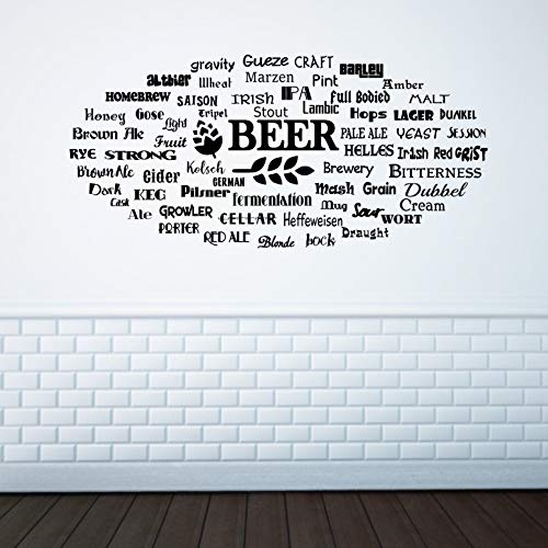 Bier Wall Art Bier Lover Gift bar Decor Soorten Bier Home bar Decor Bier Muursticker