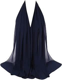 Hijab Scarfs for Women Hot Sale,deatu Clearance Ladies Plain Chiffon Scarf Shawls Headband Muslim Head Wrap