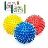 Porcupine Foot Massage Balls, Spiky Feet Massagers, Plantar Fasciitis Relief Rollers…