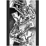 zkpzk MC Escher Casa De Escaleras Póster con Impresión De Arte Pinturas Al Óleo Lienzo Pintura para Cuadros De Arte De Pared Decoración del Hogar Carteles De Arte De Pared-50X70Cmx1 Sin Marco