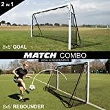 QUICKPLAY 2in1 Soccer Goal + Rebounder   Use as 8x5' Goal from The Front OR a Soccer Rebounder from The Back   The Ideal Team Shooting Target or Backyard Football Trainer 2YR Warranty
