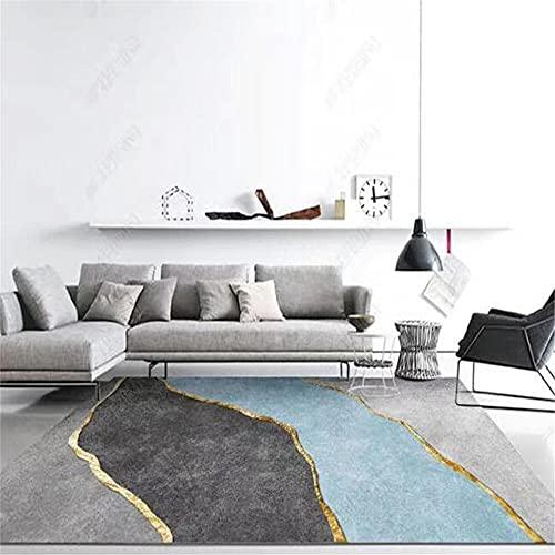 Kunsen Vloerkleden voor woonkamer, slaapkamer, woonkamer, rechthoekig, grijs, blauw, hedendaags, woonkamerstijl, 200 x…