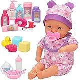 ColorBaby - Muñeco bebé blandito, con sonido y accesorios, con pijama, Muñeco 31 cm, Muñeco bebe recién nacido, Accesorios para bebes de juguete, a partir de 24 meses, colorbaby's (46541)