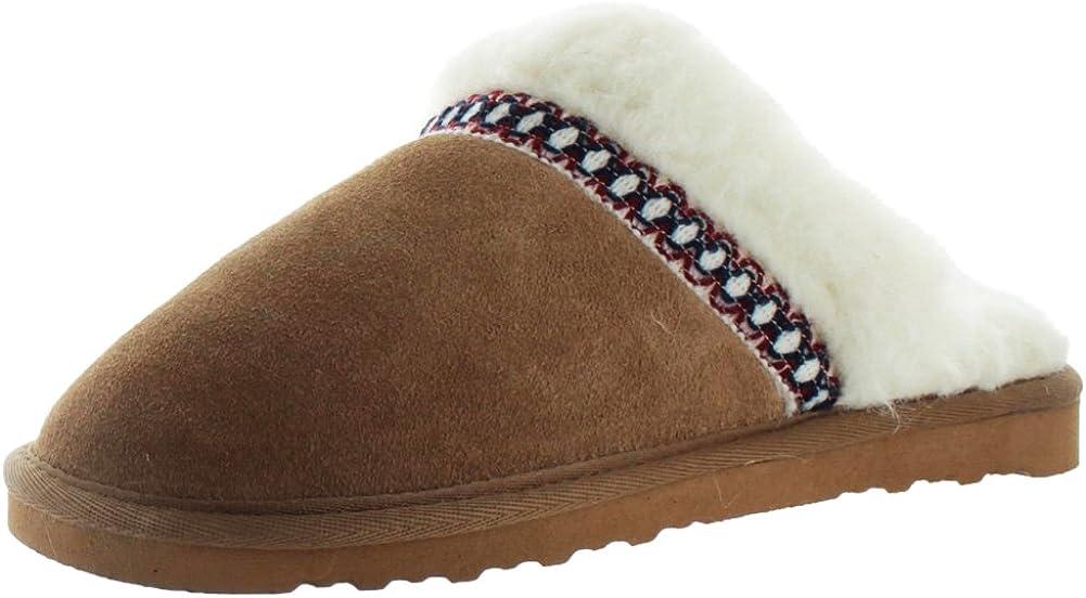 MUK LUKS Women's Dawn Suede Scuff Shoe