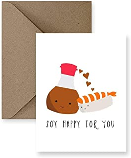 Soy Happy For You Wedding Greeting Card, Congrats Card