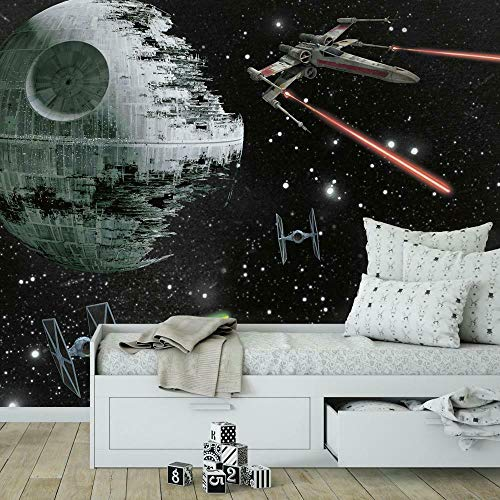 RoomMates JL1399M Star Wars Classic Vehicles Water Activated Removable Wall Mural-10.5 6 ft, 6' x 10.5', Multicolor