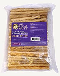 DOG CHEWS NATURAL – Our rawhide dog chews are a natural dog chew made from beef cattle hide. As they are made from beef cattle hide they are very low in calories and so are ideal diet treats. GREAT TREATS FOR DOGS - Our rawhide chews make an ideal do...