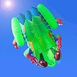 YHWW Cometas,Nueva Cometa de Rana 3D Grande, Suave y automática, Cometa Inflable, Animal, Insecto, Cometa para niños, Herramienta de Vuelo para Deportes al Aire Libre, fácil de Volar, 5,5 me