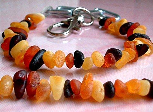 ambermilana Bernstein Halsband für Hunde und Katzen - mit verstellbarem Gürtel - Länge von 26 cm bis 30 cm - Bernsteinkette-Zeckenhalsband-Zeckenschutz