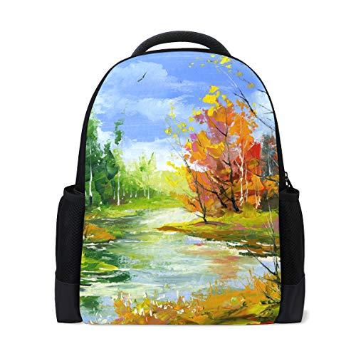 FANTAZIO - Abalorio para mochila con diseño de paisaje otoñal con el...