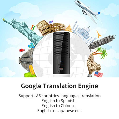 SSK Portable Foreign Language Translators Device with Connecting Smartphone by Bluetooth Support 86 Languages Two-Way Instant Translation Voice Language Translator for Travelling Learning Business Photo #4