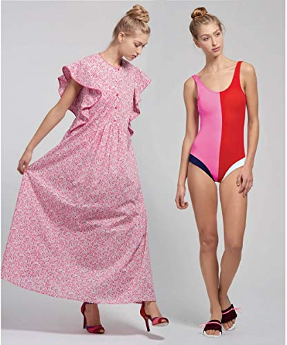 Simplicity Sewing Pattern Misses' Swimsuit and Caftans by Cynthia Rowley, Paper, White, VARIOUS
