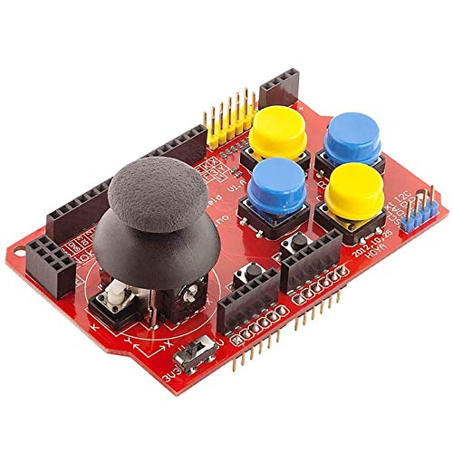 AZDelivery ⭐⭐⭐⭐⭐ PS2 Joystick Shield Game Pad Keypad V2.0 kompatibel mit Arduino