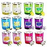 YDDS Set de Regalo con Velas Perfumadas Vidrio Portátil Velas de Cera de Soja Natural para el Hogar Vela natural