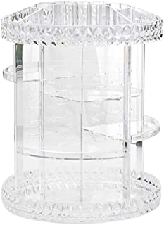 Apostasi 360 Rotating Crystal Cosmetic Storage Box, Adjustable Multifunction Detachable Jewelry Makeup Perfumes Skin Care ...