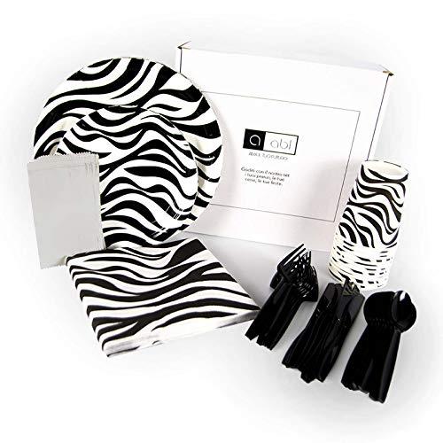 ABL - Juego de 70 servilletas de papel con diseño de cebra para 6 cumpleaños